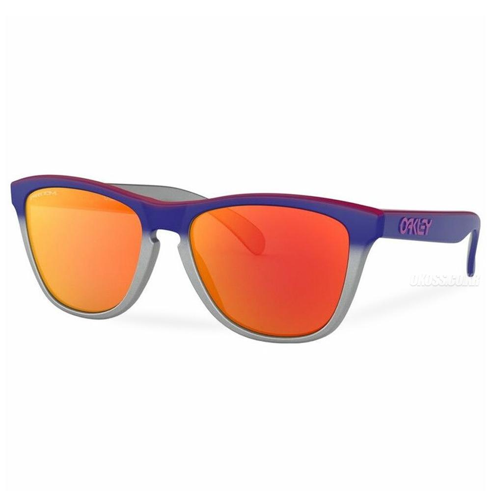 오클리 선글라스 프로그스킨 스플래터 페이드 콜렉션 프리즘 아시안핏 OO9245-8254 OO9245-82 OAKLEY ASIAN FROGSKINS SPLATTERFADE COLLECTION PINK BLUE FADE SILVER/PRIZM RUBY_E1O1906RU