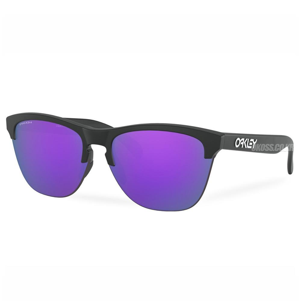 오클리 선글라스 프로그스킨 라이트 프리즘 OO9374-3163 OO9374-31 OAKLEY FROGSKINS LITE MATTE BLACK/PRIZM VIOLET_E1O1012VI