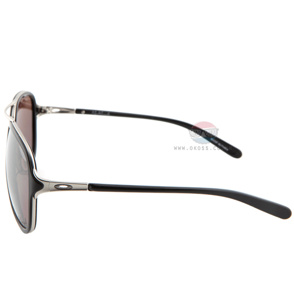 오클리 선글라스 킥백 편광렌즈 OO4102-04 OAKLEY KICK BACK SATIN CHROME/OO BLACK IRIDIUM POLARIZED