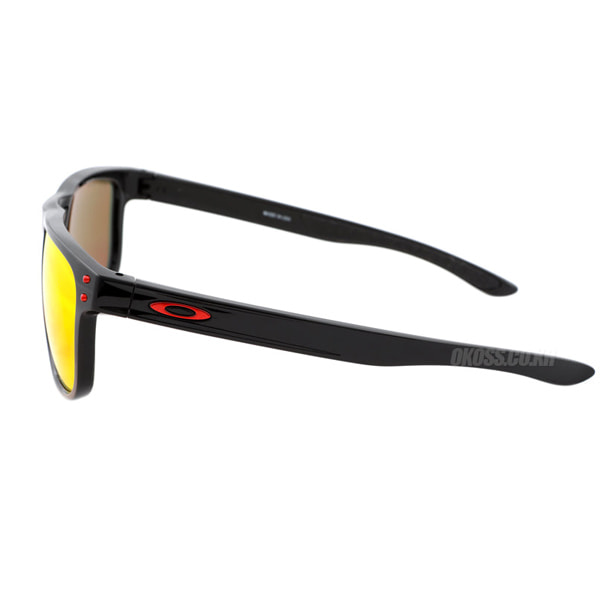 오클리 선글라스 홀브룩 R 프리즘 편광 OO9377-0755 OO9377-07 OAKLEY HOLBROOK R POLISHED BLACK/PRIZM RUBY POLARIZED