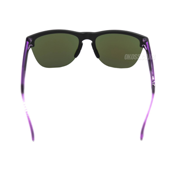 오클리 선글라스 프로그스킨 라이트 크리스탈라인 콜렉션 OO9374-1863 OO9374-18 OAKLEY FROGSKINS LITE CRYSTALLINE COLLECTION MATTE BLACK/VIOLET IRIDIUM