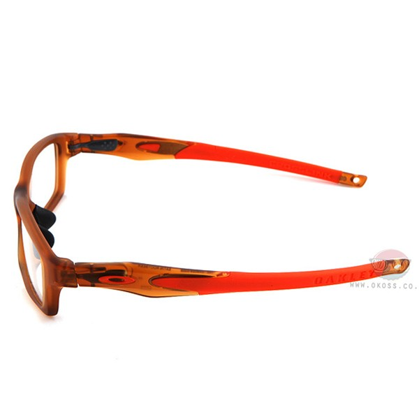 오클리 선글라스 크로스링크 OX8027-0353 OAKLEY CROSSLINK SATIN ROOTBEER/TEAM ORANGE