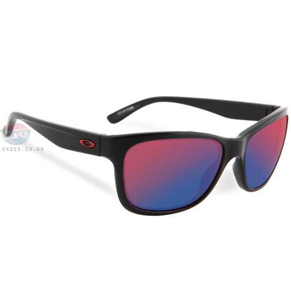 오클리 선글라스 포핸드 OO9179-27 OAKLEY FOREHAND POLISHED BLK/POSITIVE RED IRIDIUM