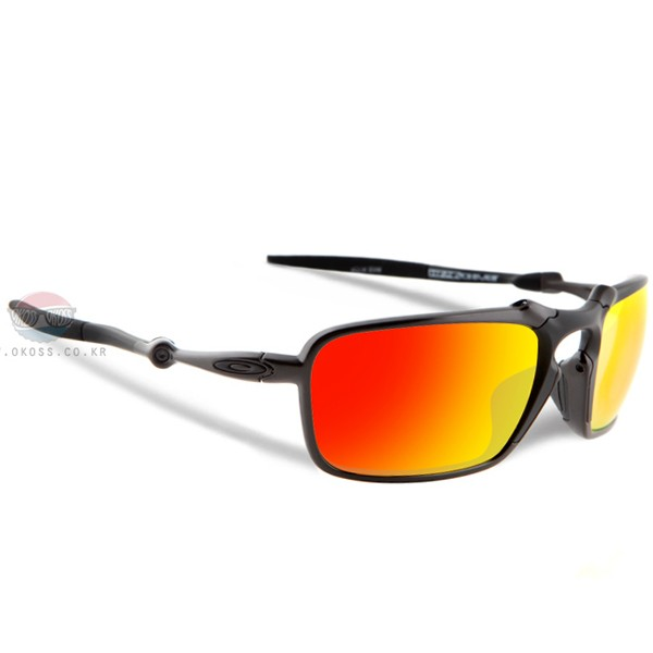 오클리 선글라스 배드맨 엑스메탈 편광렌즈 OO6020-03 OAKLEY POLARIZED BADMAN DARK CARBON/RUBY IRIDIUM POLARIZED