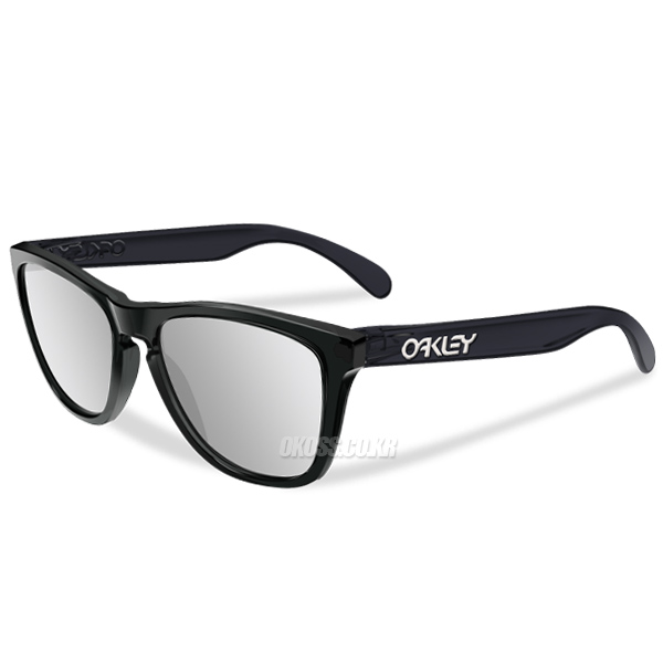 오클리 선글라스 프로그스킨 잉크 콜렉션 편광렌즈 OO9013-10 OAKLEY INK COLLECTION FROGSKINS BLACK INK/CHROME IRIDIUM POLARIZED