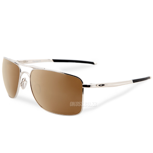 오클리 선글라스 게이지 8 라지 편광 OO4124-0562 OO4124-05 OAKLEY GAUGE 8 L POLISHED CHROME/TUNGSTEN IRIDIUM POLARIZED
