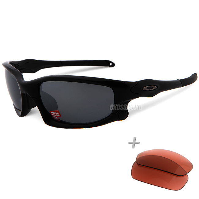 오클리 선글라스 스플릿자켓 아시안핏 편광+추가렌즈 OO9138-04 _ OAKLEY ASIAN POLARIZED SPLIT JACKET POLISHED BLK/BLK IRIDIUM POLARIZED&G40