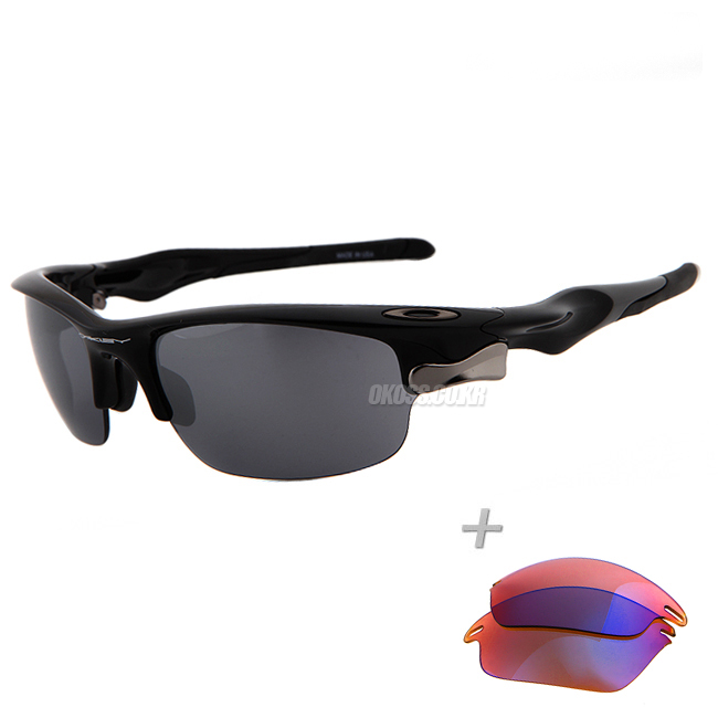 오클리 선글라스 패스트자켓+추가렌즈 OO9097-16_OAKLEY FAST JACKET POLISHED BLK/BLK IRIDIUM&P42 IRIDIUM