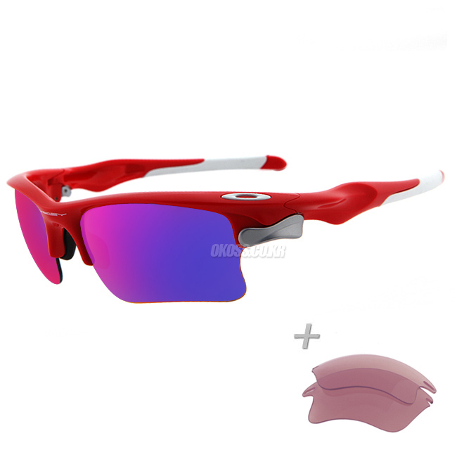 오클리 선글라스 패스트자켓+추가렌즈 OO9156-16_OAKLEY FAST JACKET INFRARED/POSITIVE RED IRIDIUM&VR28