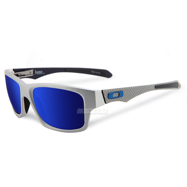 오클리 선글라스 쥬피터 팩토리 라이트 편광 OO4066-04 OAKLEY POLARIZED JUPITER FACTORY LIGHT POLISHED ALUMINUM/ICE IRIDIUM POLARIZED