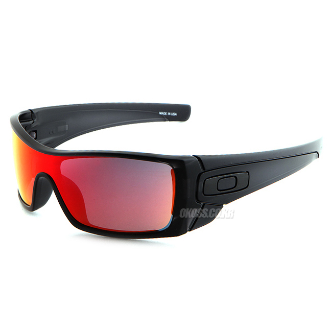 오클리 선글라스 배트울프 OO9101-38 OAKLEY BATWOLF MATTE BLK INK/RUBY IRIDIUM